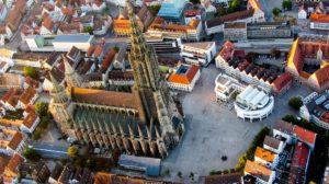 Cathédrale D'Ulm, Ulm, Vue Aérienne, Münster