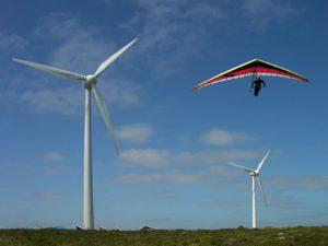 Vent, Deltaplane, En Volant, Énergie Éolienne, Éolienne